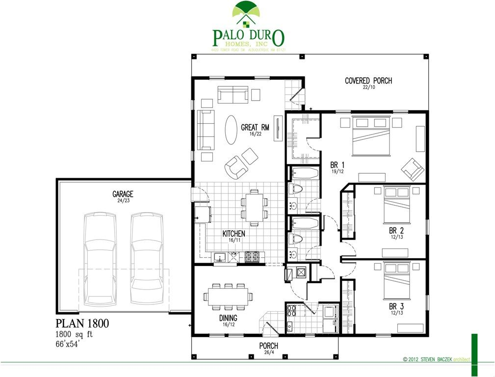 Palo Duro Homes Floor Plan 1800 1800 Sq Ft Palo Duro