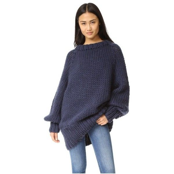 I Love Mr Mittens Oversized Long Ribbed Sweater ($410) ❤ liked on ...