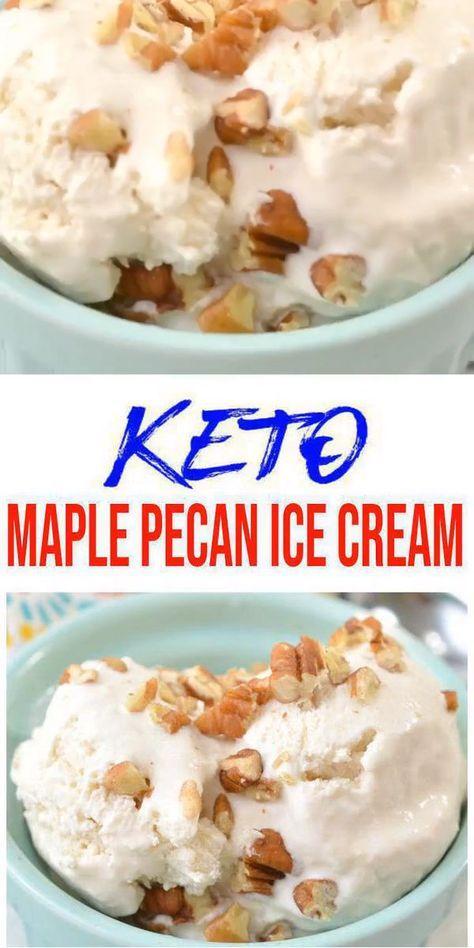 Keto Ice Cream! BEST Low Carb Maple Pecan Vanilla Ice Cream Idea – Quick & Easy Homemade Ketogenic Diet Recipe – Completely Keto Friendly