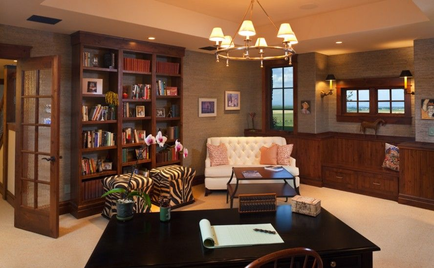 Custom Home Library Design: Discussion And Examples: Fancy ...
