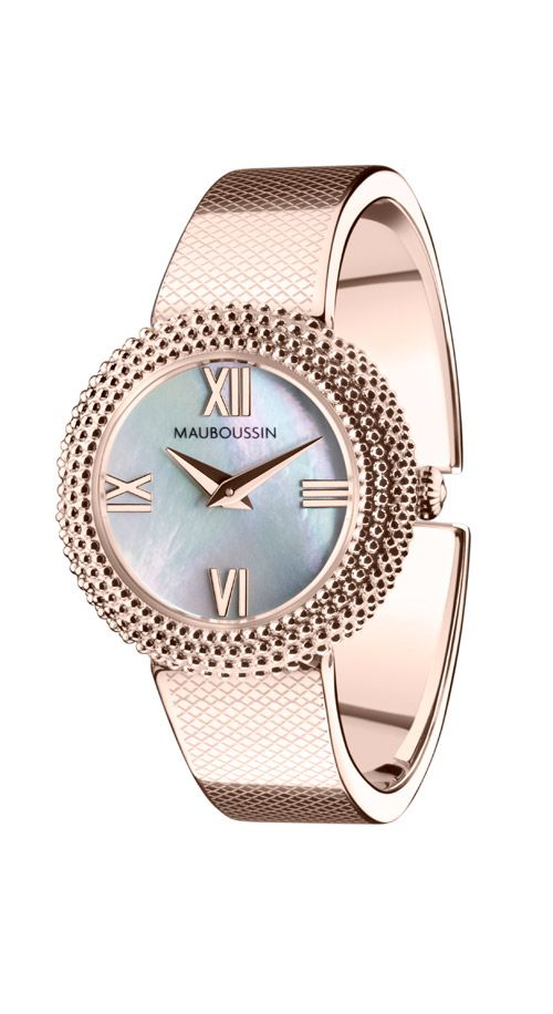 Le MauboussinStainless Premier Jour Timepiece By SteelQuartz D9IEH2