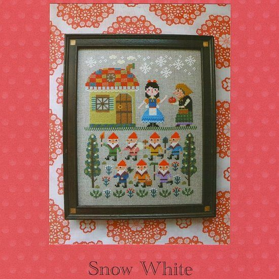 Gera Cross Stitch - Snow White. Kyoko Maruoka is the mind behind the Gera! line of cross-stitch and needlework designs.