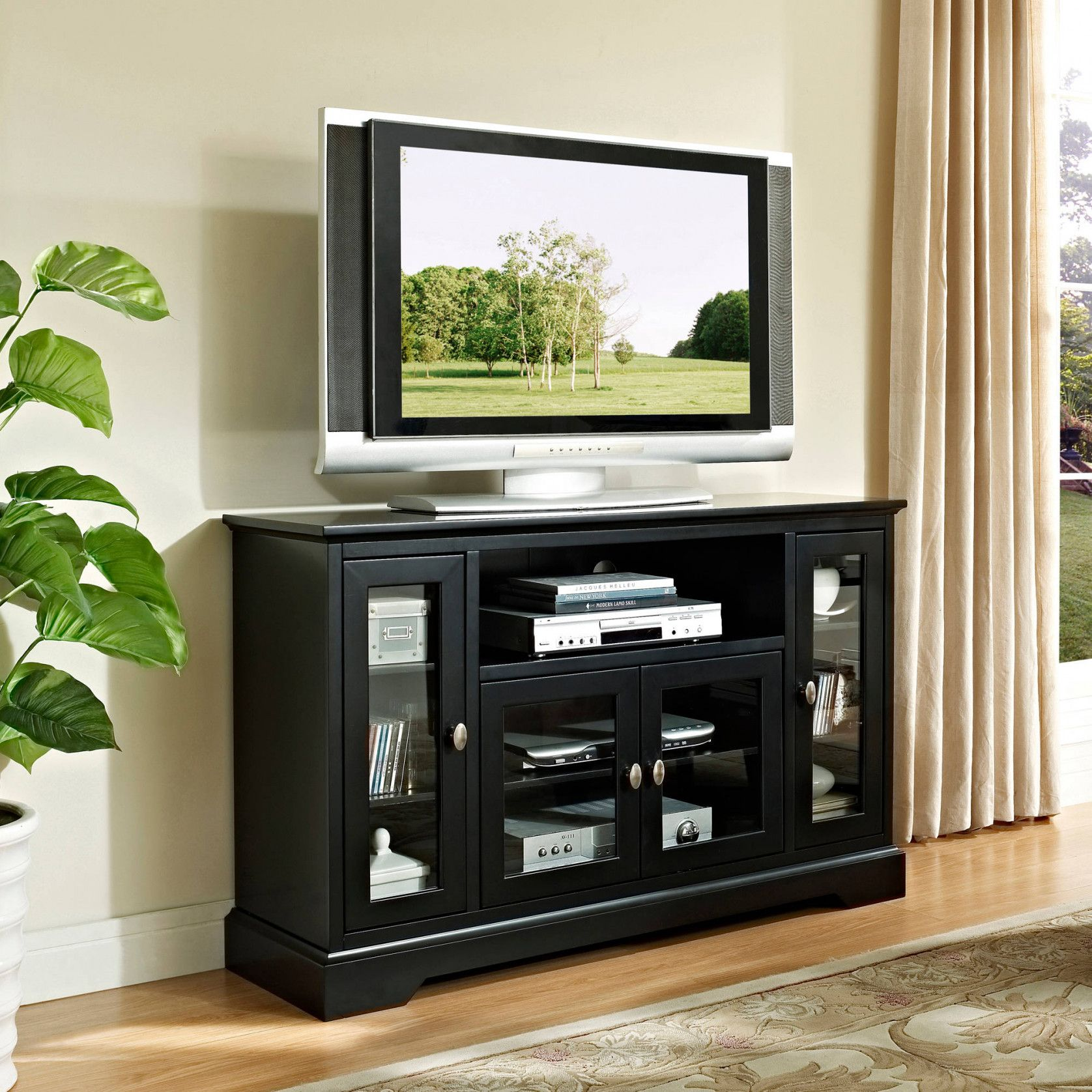 50+ Tv Console Cabinets For Flat Screen Tv   Kitchen Cabinet Inserts Ideas  Check More