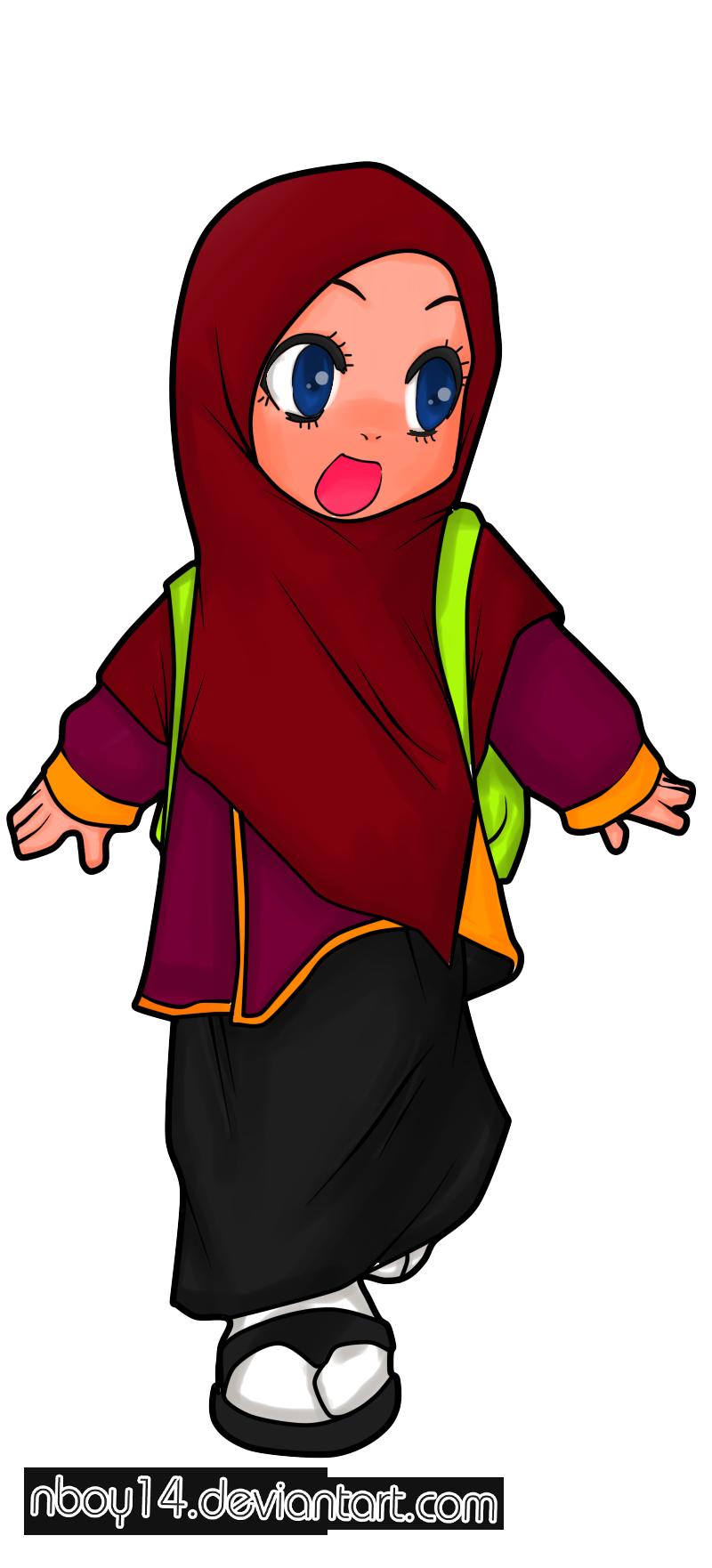 Gambar Kartun Anak Muslim Pinterest