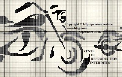 Grille gratuite point de croix les cygnes en coeur point compt le point croix et point - Grilles gratuites points comptes ...