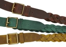 Love these braided belts.  Available in vegan from Green Shoes UK.