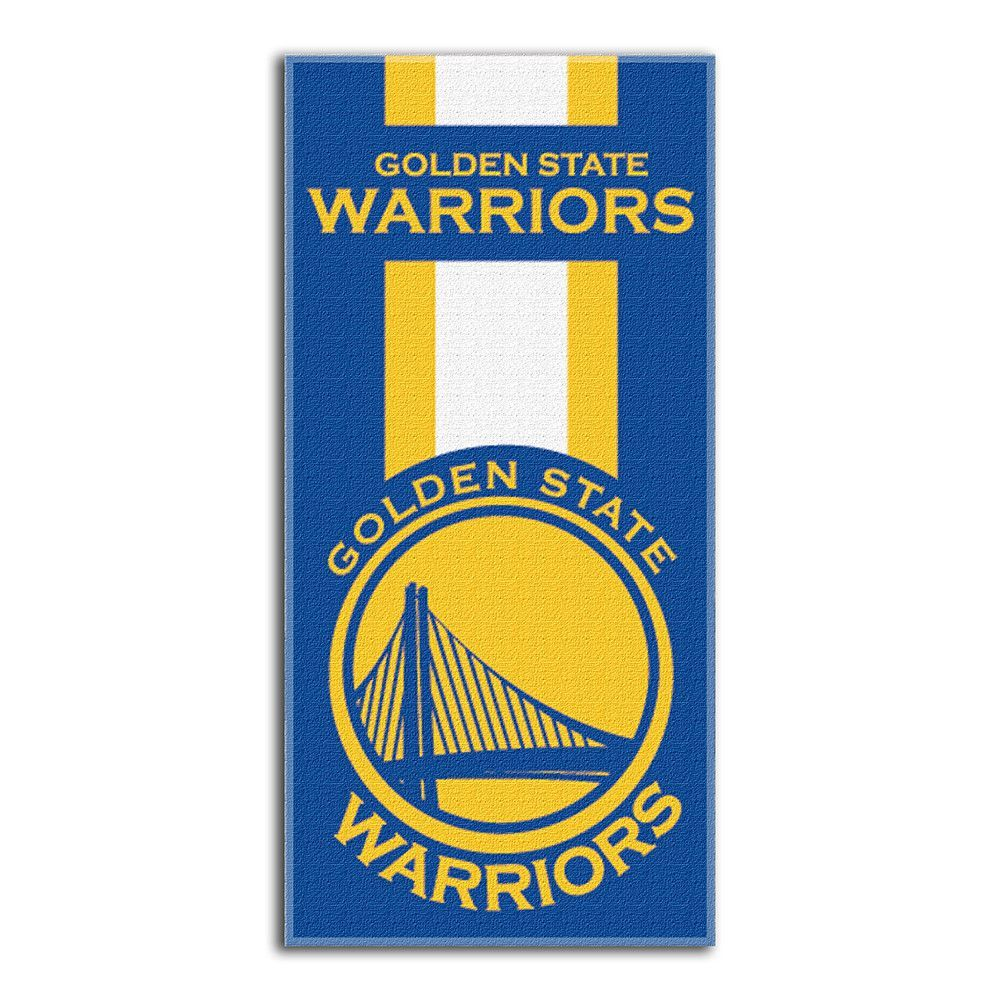 Golden State Warriors Zone Read Cotton Beach Towel (30in x