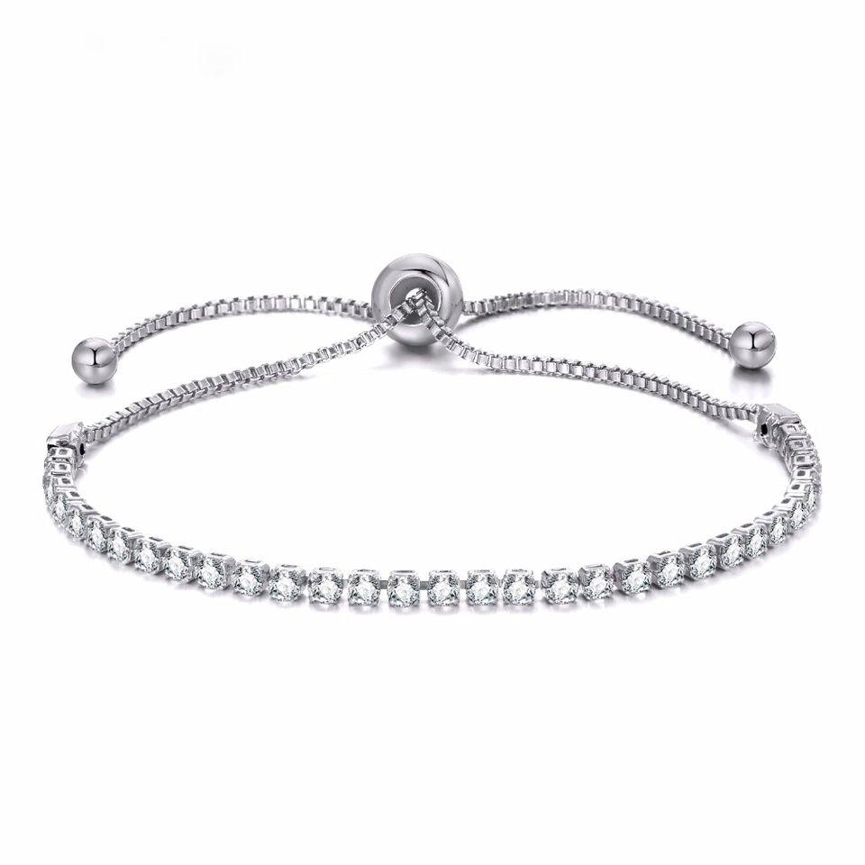 903a0f222fce3 Bracelet fantaisie pas cher Bracelet en métal plaqué argent Bracelet  réglable Pierres Swarovski Ce bracelet fantaisie se porte à toutes les  occasions.