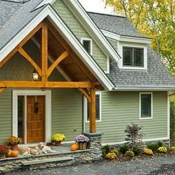 Sage Green House With White Trim Google Search House Paint