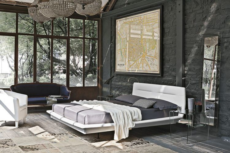 10 Beautiful Master Bedrooms with Exposed Brick Bricks, Beautiful - industrial chic wohnzimmer