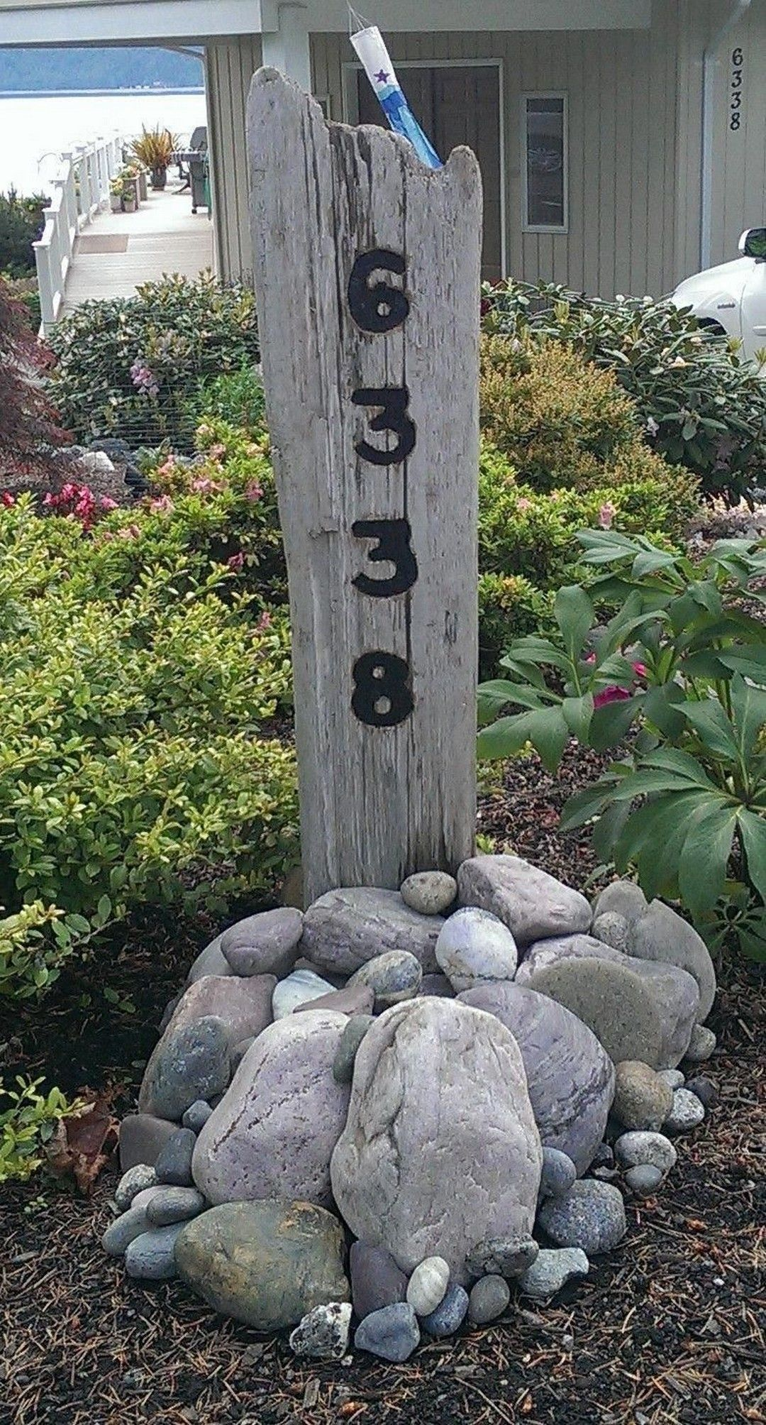 64 Diy Address Post House Numbers Diy Address Signs For Yard