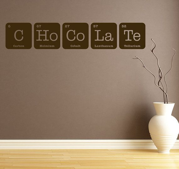 I see this one going up soon CHOCOLATE Sign Wall Art Vinyl Decal by InspirationsByAmelia, $27.00