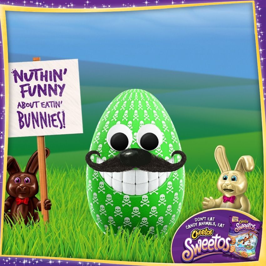 Chesters eggerator easter eggs bunny my favorite food
