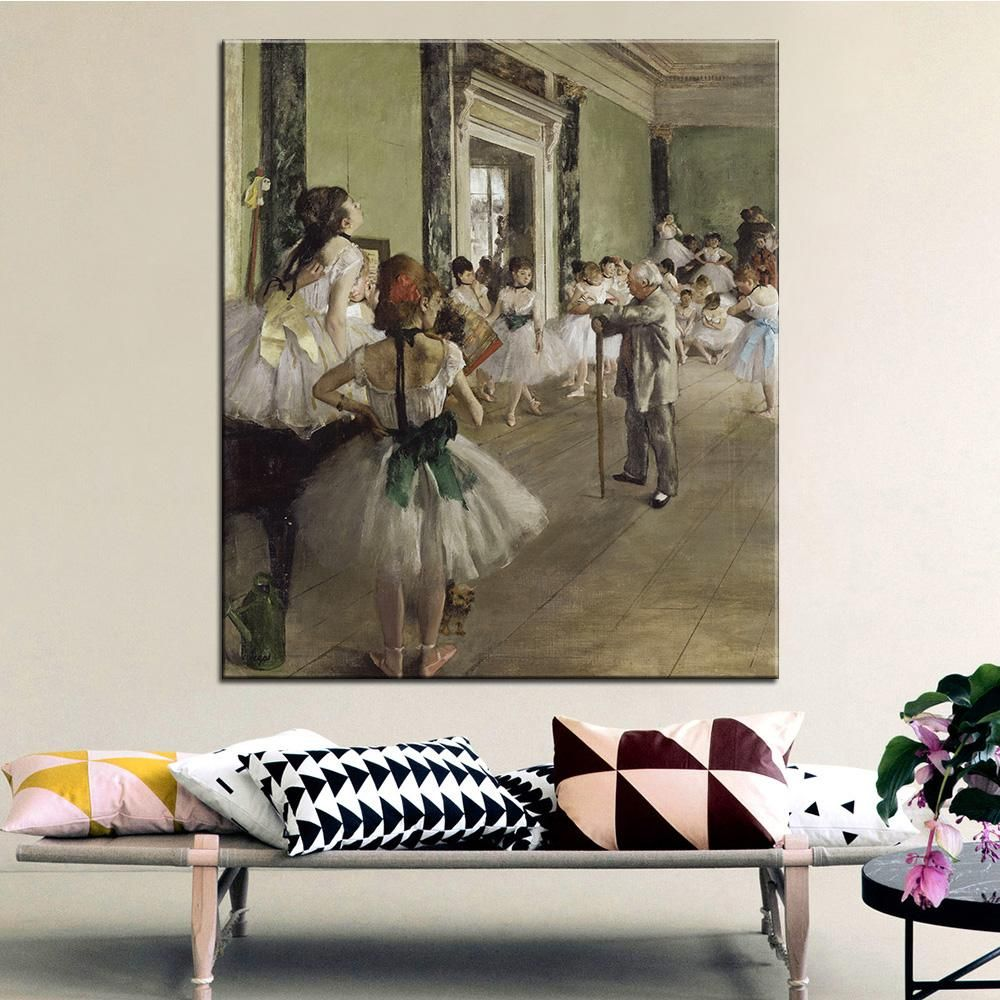Delicieux DP ARTISAN The Ballet Class Wall Painting Print On Canvas For Home Decor  Oil Painting Arts
