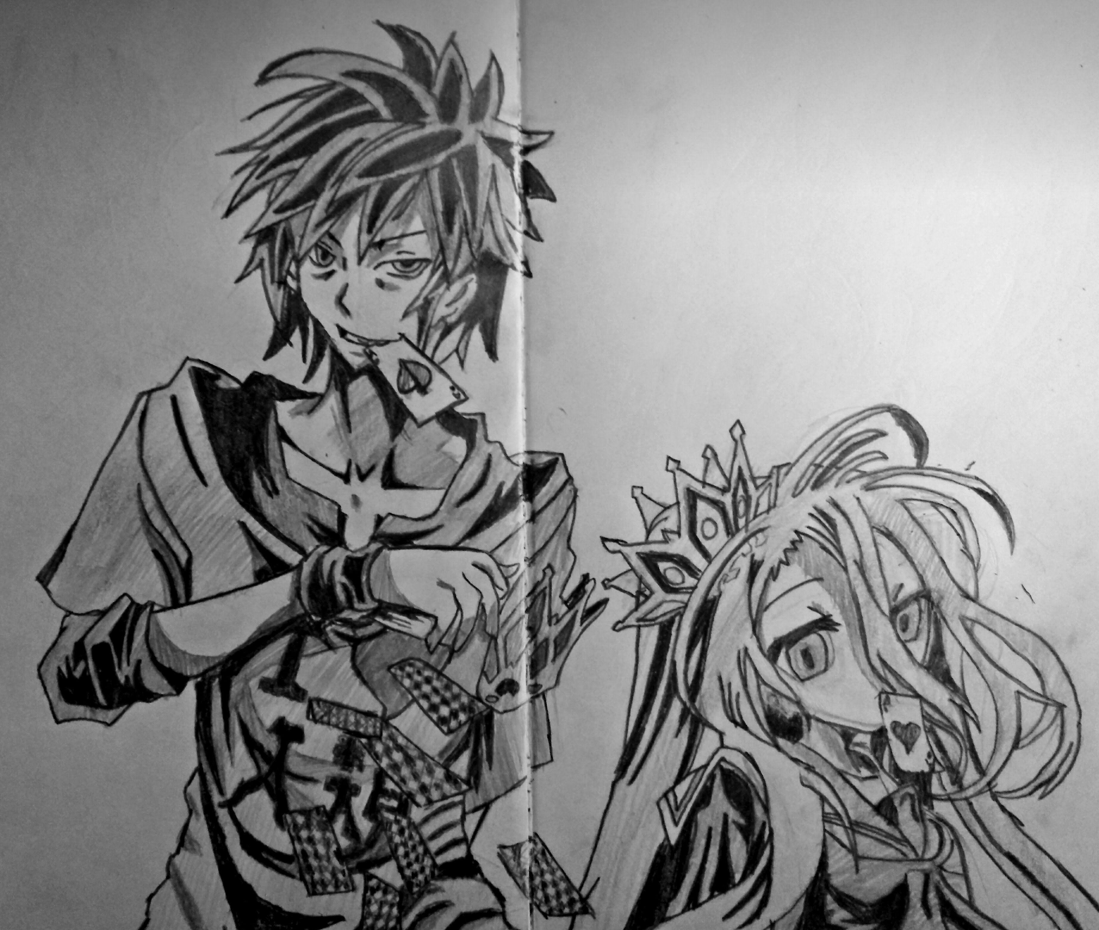 speed drawing anime sora and shiro no game no life