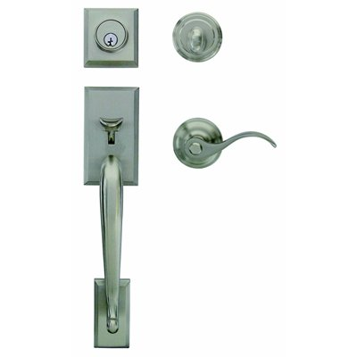 Gatehouse Front Door Handle Set SM Amanda Commercial/Residential Single Lock  Door Handleset