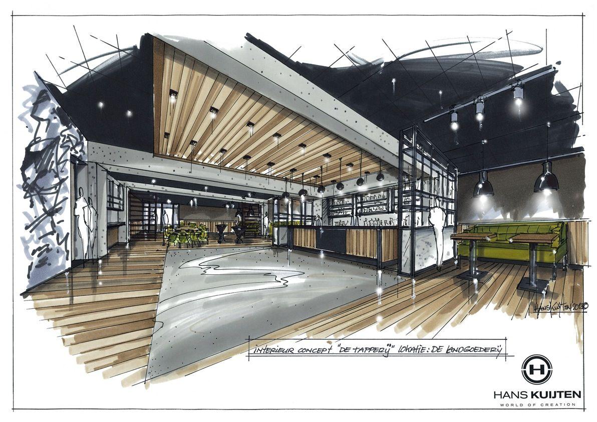 Hans kuijten projecten sketching pinterest for Studium interior design