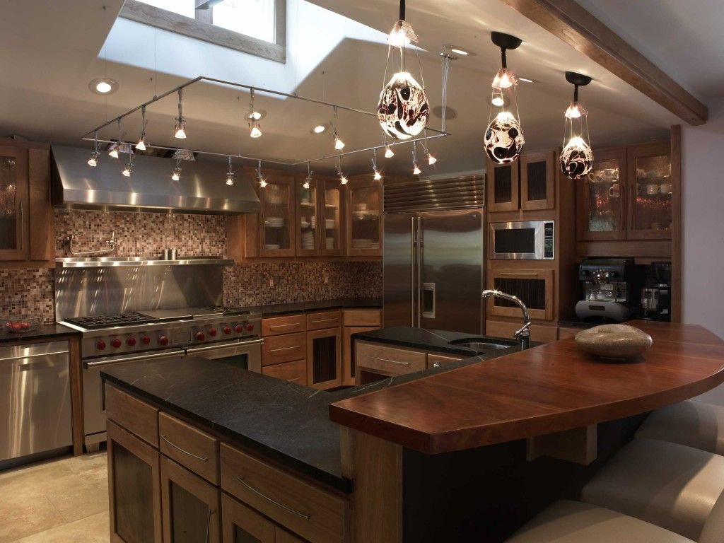 Kitchen Kitchen Square Track Lighting For Vaulted Ceiling With - Track lighting over island