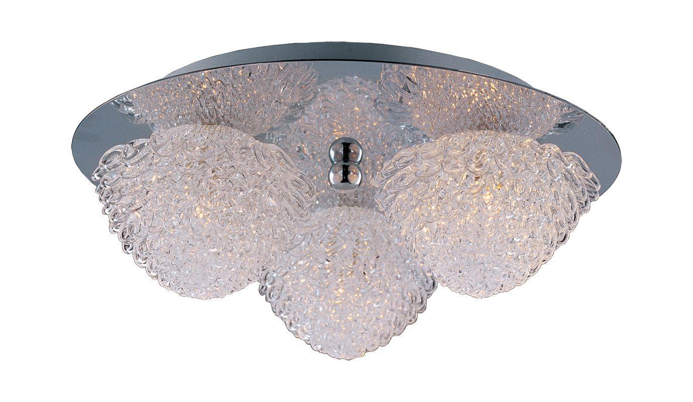 ET2 E23001-20 Blossom 3-Bulb Flush Mount Indoor Ceiling Fixture - Crystal Shade Polished Chrome Indoor Lighting Ceiling Fixtures Flush Mount