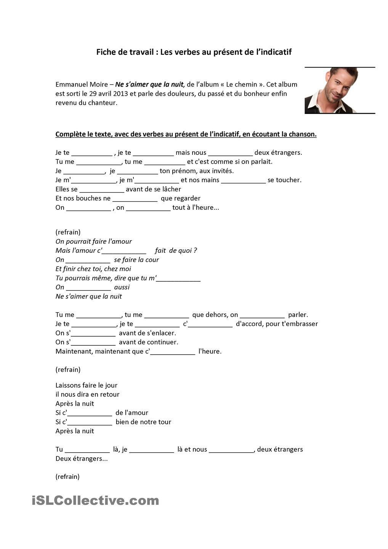 Retrouver Une Chanson Avec Les Paroles : retrouver, chanson, paroles, Chanson, Pratiquer, Verbes, Présnt, Chanson,, Verbe,, Apprentissage, Langue, Française