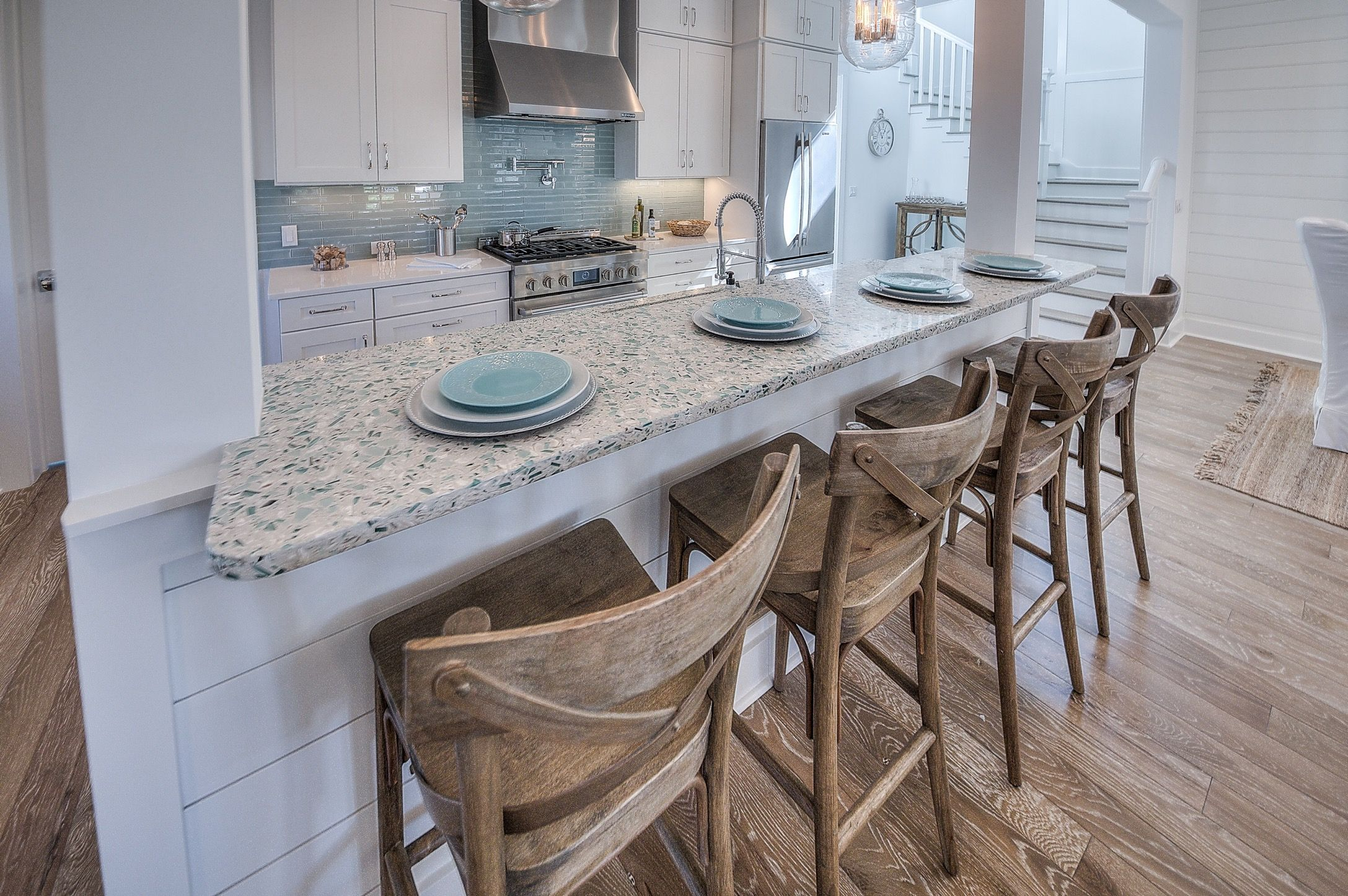 Attractive Breakfast Bar And Rustic Bar Stools