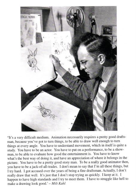 "Flooby Nooby: James Baxter - Notes on Acting for Animation ""Milt Kahl"""