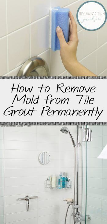 how to remove mold from grout