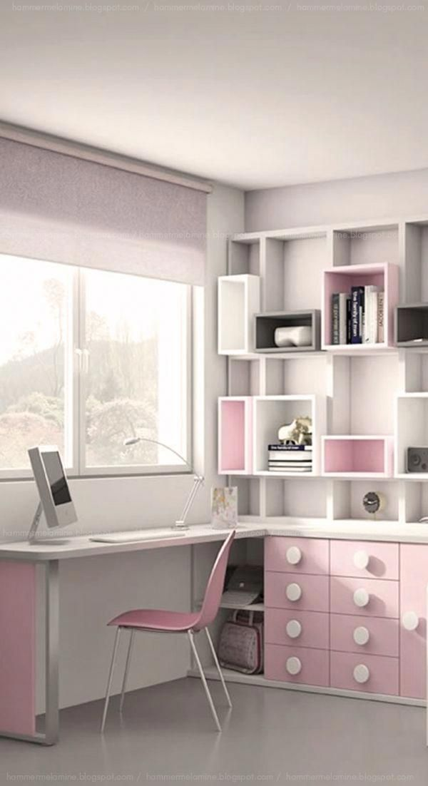 Mueble Melamina Color Blanco Y Rosa Con Estanteria Super Funcional