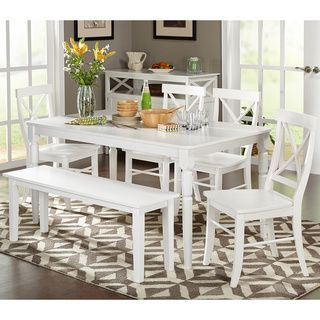 Simple Living 6 Piece Albury Dining Set With Dining Bench By Simple Living