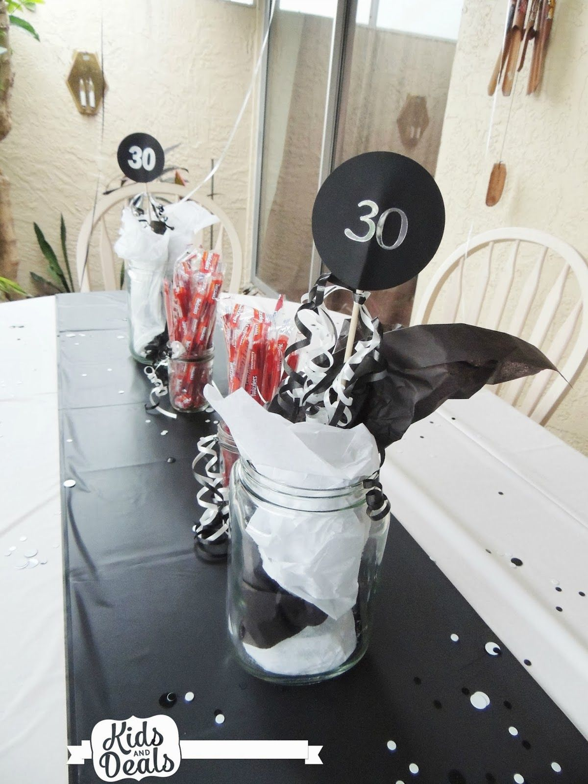 Kids and deals a 30th birthday party table decorations for 30th decoration ideas