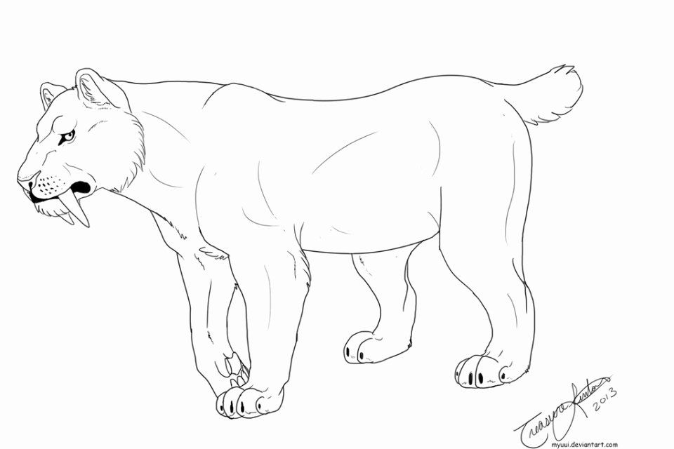 Saber Tooth Tiger Coloring Page Unique Get This Saber Tooth Tiger Coloring Pages To Print Animal Coloring Pages Animal Templates Shark Coloring Pages