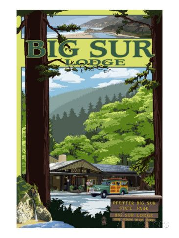 Big Sur Lodge, California Poster at AllPosters.com