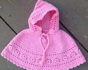 Poncho for Babies and Kids Free Crochet Patterns