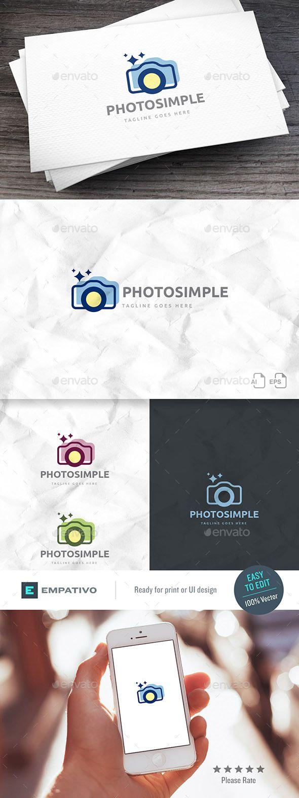 Photo Simple Logo Template