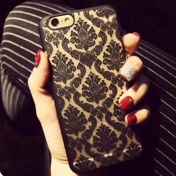iPhone 6 Plus Damask Cover Style up your phone with this gorgeous case! Black! NWT! Accessories Phone Cases