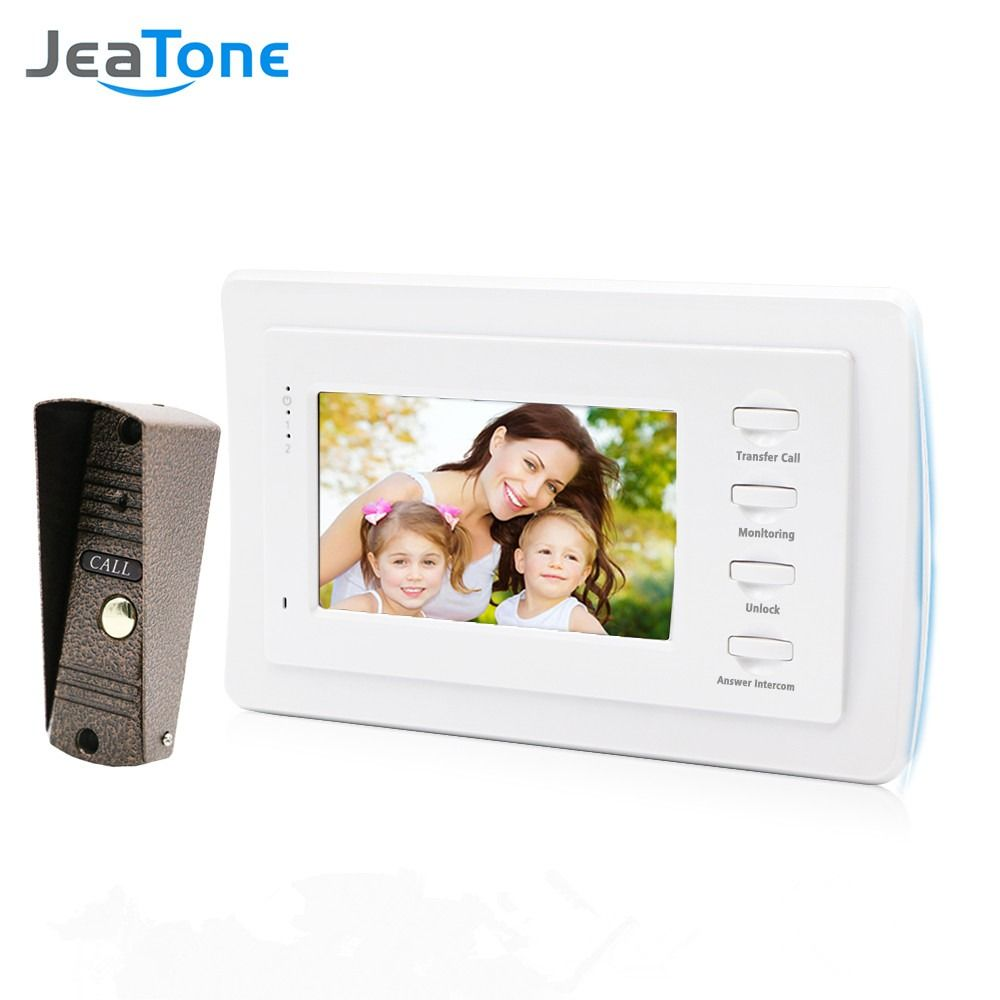 inch Video Door Phone Intercom Bronze Doorbell Home Security