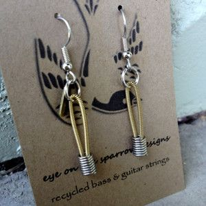 Guitar String Dangle Earrings now featured on Fab.