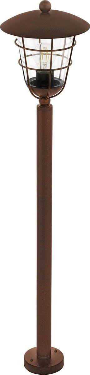 De EGLO Vintage Pulfero 1 is een stoere tuinpaal gemaakt van gegalvaniseerd staal in een zwarte of bruine uitvoering. Het robuuste design springt gelijk in het oog. Deze tuinpaal met E27 fitting wordt geleverd exclusief lichtbron en is geschikt voor een maximaal wattage van 60W. De Pulfero 1 is uitermate geschikt voor toepassing buitenshuis (IP44) en staat perfect in een eigentijdse stijl. Kenmerken EGLO Pulfero 1:• Afmetingen: H 1020 mm. Ø 220 mm. •  Diameter voet: 110 mm.•  Lichtbron(nen): nie