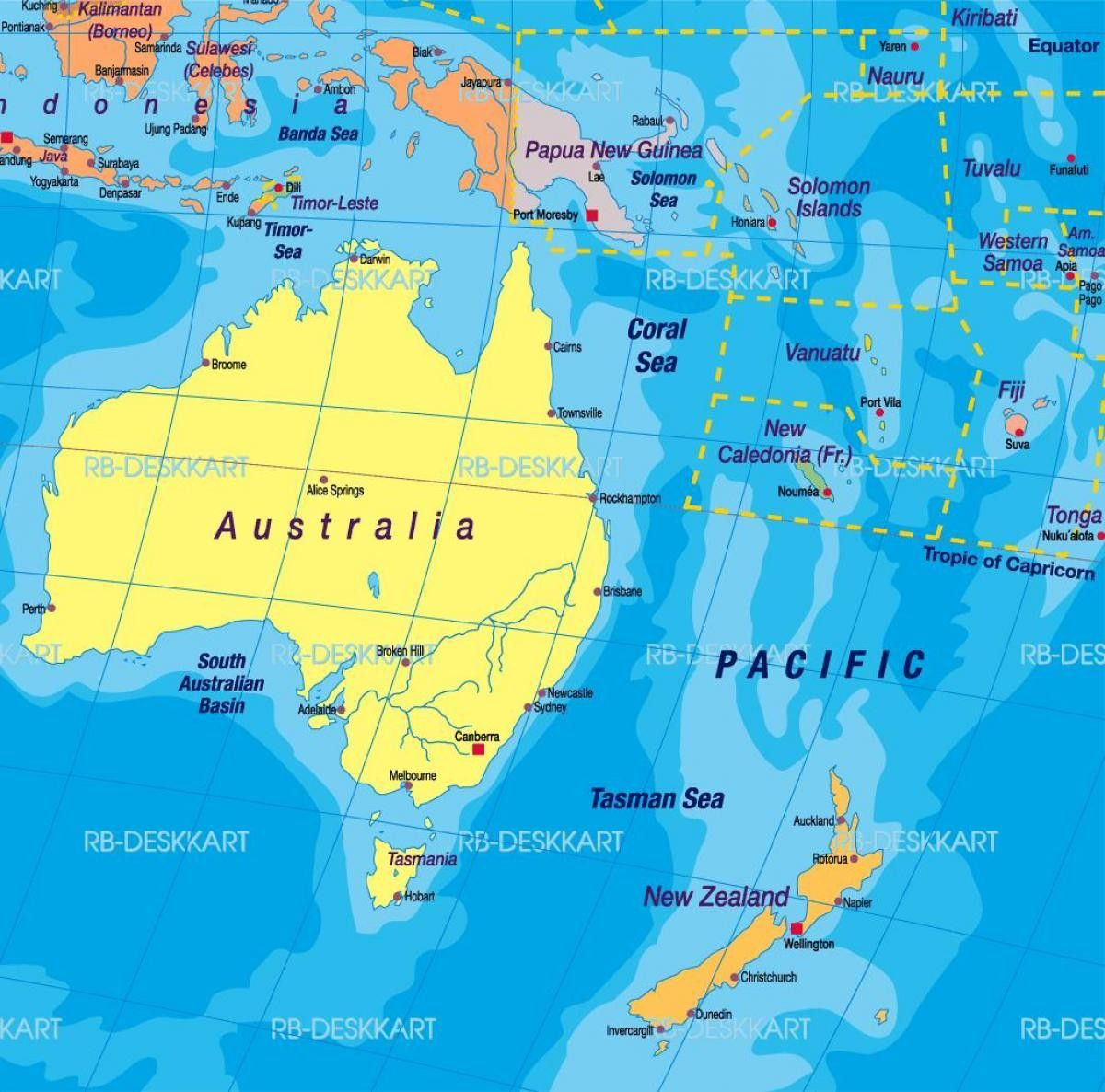 New Zealand Map World Specified Australia And New Zeland Map Australia And New Zeland