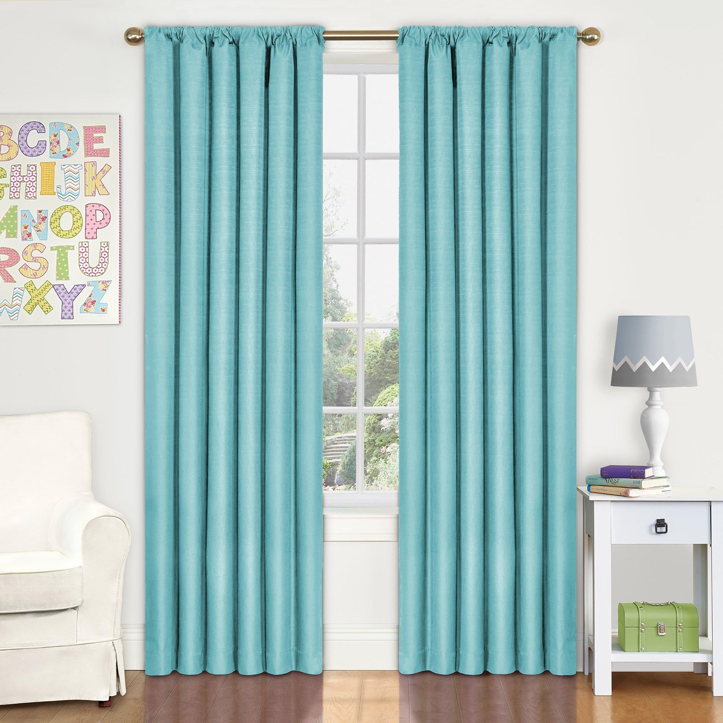 Eclipse Kids Kendall Blackout Window Curtain Panel (42X95 - White ...