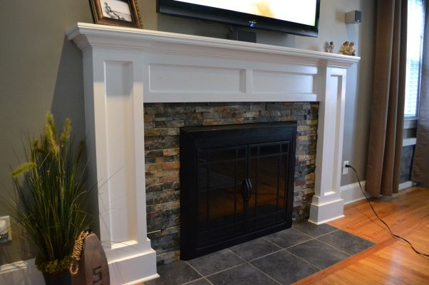 Fireplace facades on pinterest fireplace mantels for Design your own fireplace