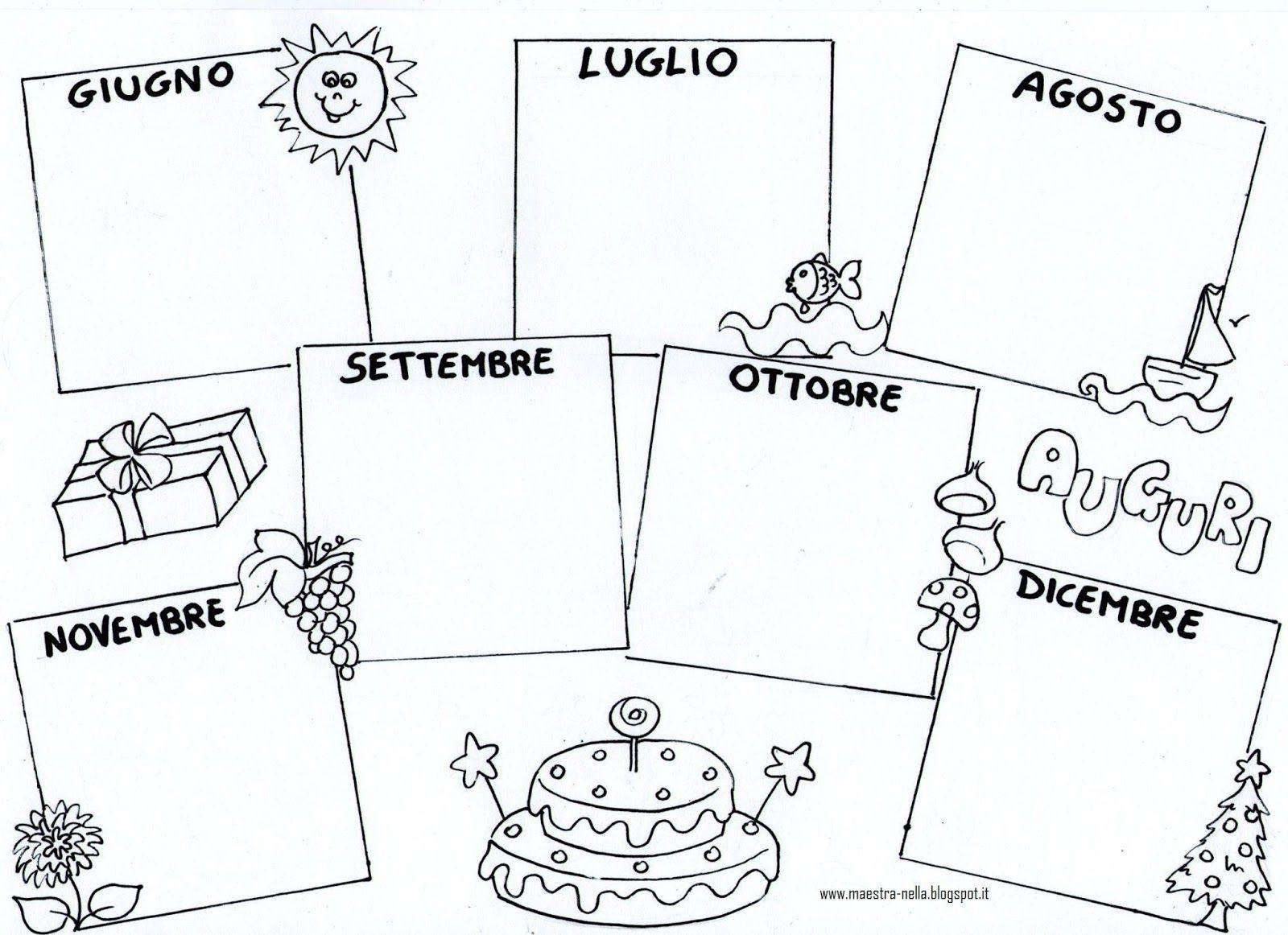 Calendario Solo Numeri.Disegni Idee E Lavoretti Per La Scuola Dell Infanzia E