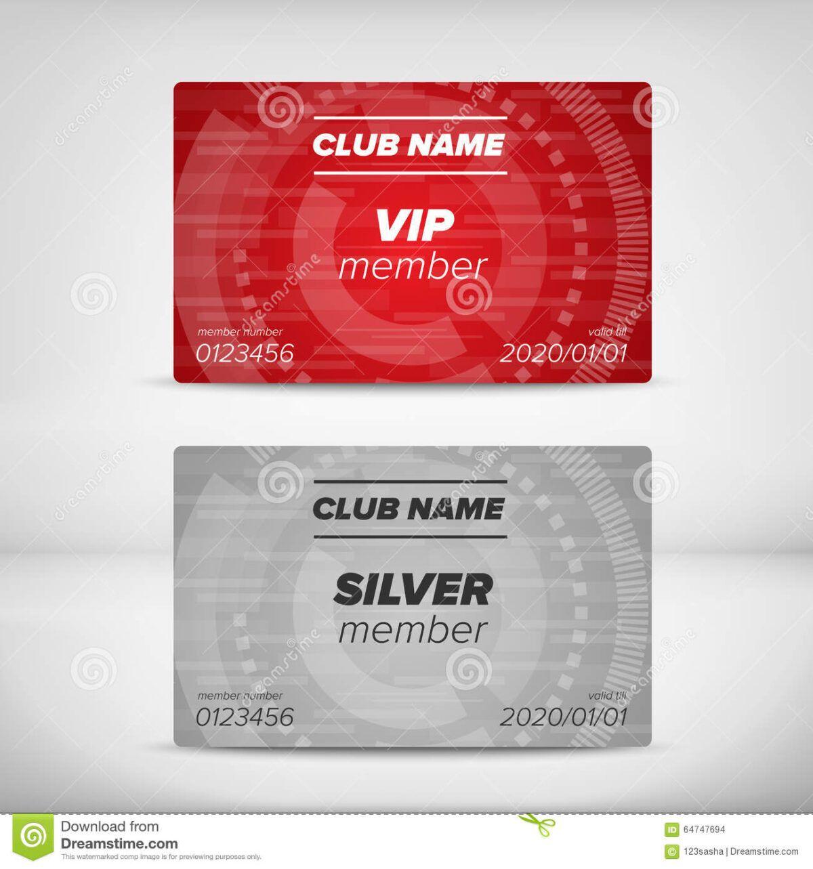 Member Card Templates Stock Vector Illustration Of Entrance Inside Membership Card Templa Business Card Template Word Free Business Card Templates Member Card