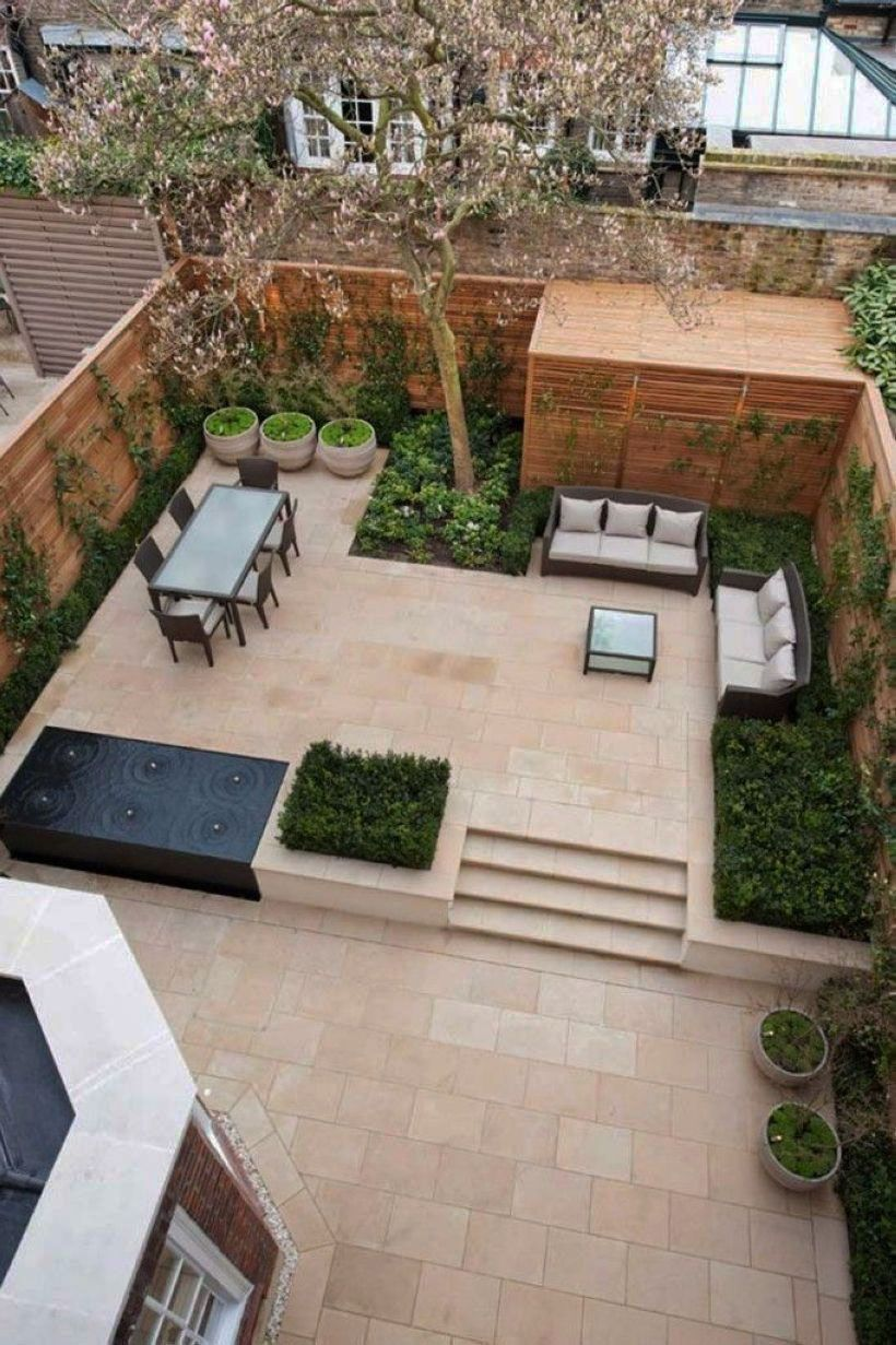 25 Chic Patio Ideas to Try in Your Backyard | Contemporary ... on Modern Landscaping Ideas For Small Backyards  id=21985