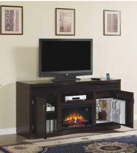 Endzone Electric Fireplace Entertainment Center Beer