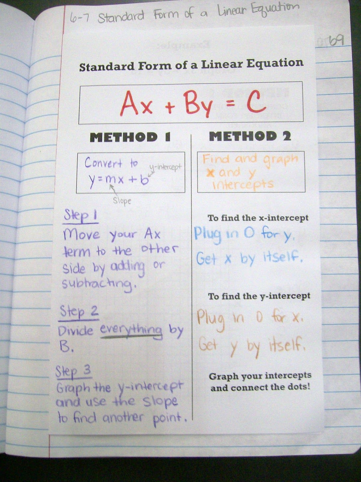 Two Methods For Solving A Problem The Next Page Has Them