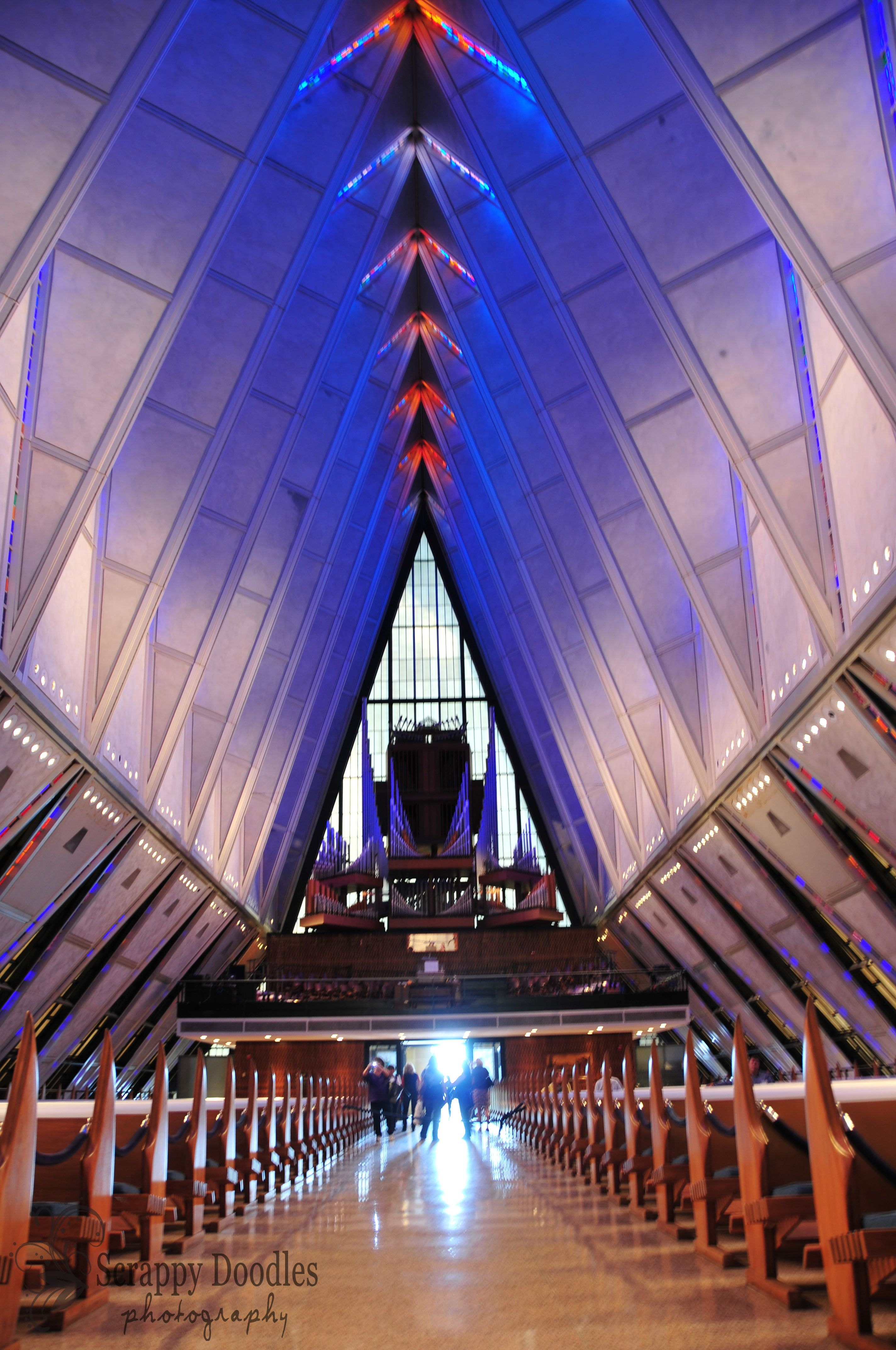 Inside the Air Force Academy Chapel