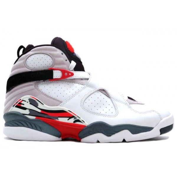 305381 101 Nike Air Jordan 8 VIII Retro-White /Black-True Red http