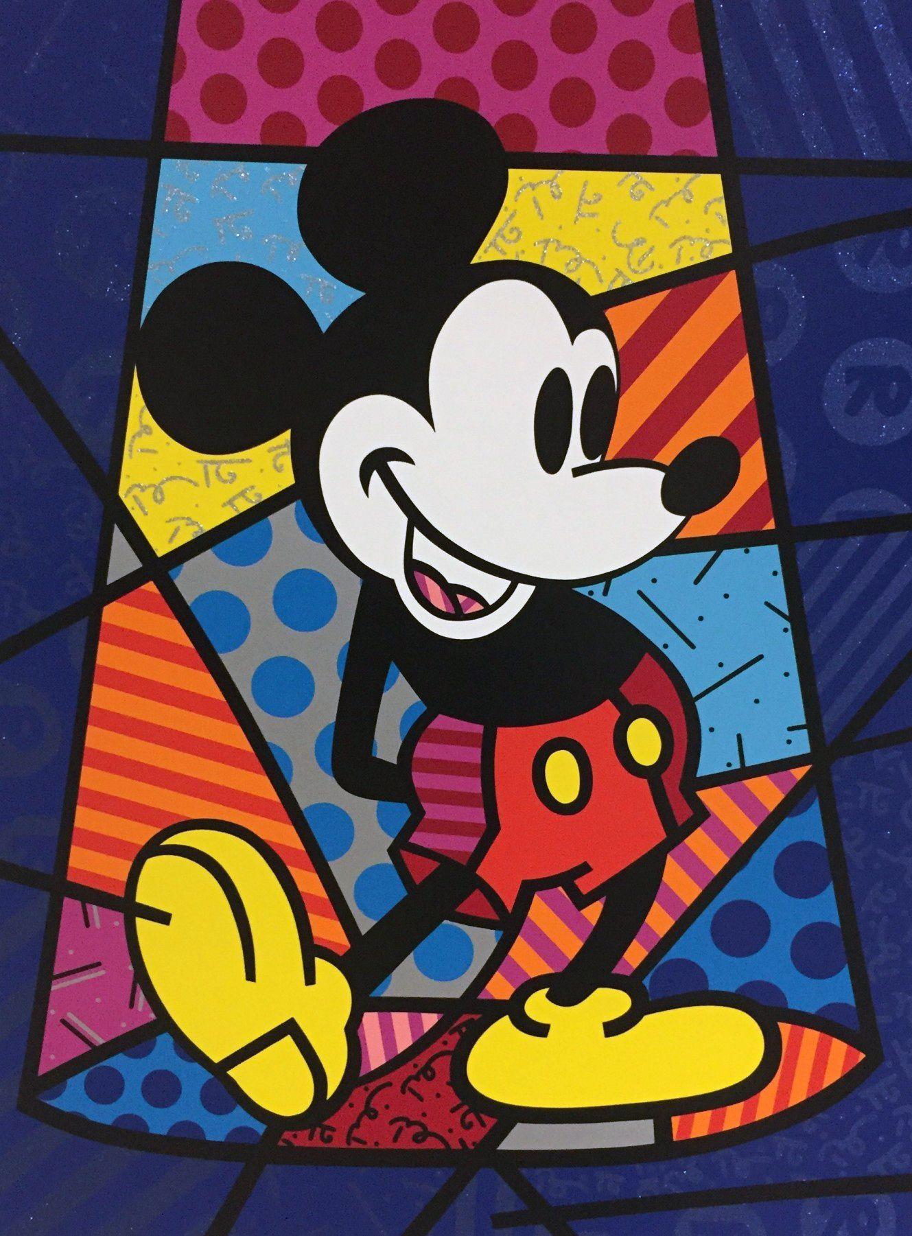 Romero Britto Art For Sale Romero Britto Art Britto Art Mickey