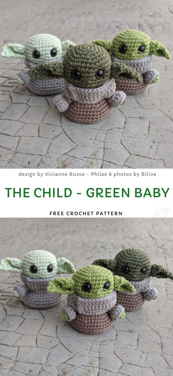 The Child - Green Baby Free Crochet Pattern